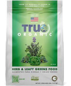 True Organic 4 lb. Herb & Leafy Greens Food, 4-4-6