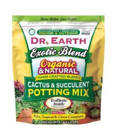 Dr. Earth Organic and Natural Exotic Blend Cactus & Succulent Potting Mix, 8 quarts