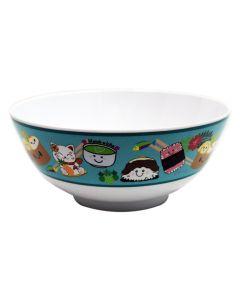 8 in. Aqua Melamine Ramen Bowl, Local Foods Design