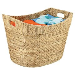 Medium Tall Natural Material Storage Basket