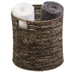 Medium Geo Woven / Steel Storage Basket