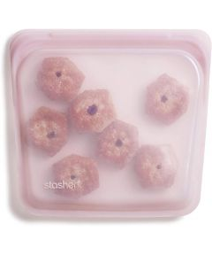 Stasher Reusable 100% Silicone Sandwich Bag, Rose Quartz