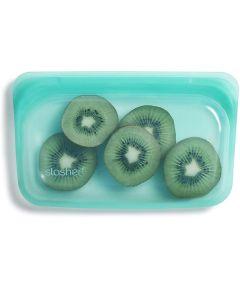 Stasher Reusable 100% Silicone Snack Bag, Aqua