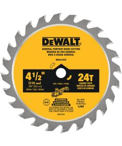 DEWALT 4-1/2 in. 24T Circular Saw Blade