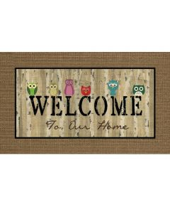 Apache Mills 18 in. x 30 in. Masterpiece Owl Welcome Mat