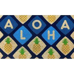 Aloha Door Mat, Pineapple Tile