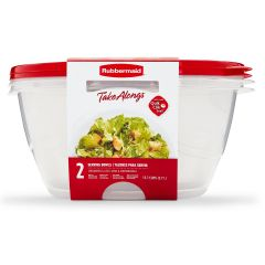 Rubbermaid TakeAlongs 2-Pack 15.7 Cup Serving Bowls Food Containers with Lids