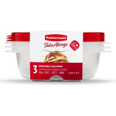 Rubbermaid TakeAlongs 3-Pack 5 Cup Medium Bowls Food Containers with Lids