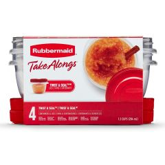 Rubbermaid TakeAlongs 4-Pack 1.2 CupTwist & Seal Food Containers with Lids