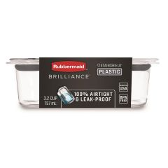 Rubbermaid Brilliance 3.2 Cup Food Container with Airtight & Leak-Proof Lid