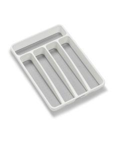 Classic Collection Mini Silverware Tray, White