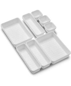 8-Piece Interlocking Bin Pack, White
