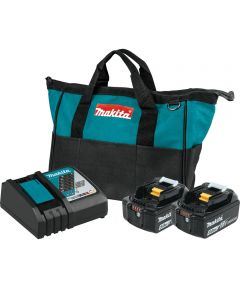 Makita 18V LXT Lithium‑Ion 5.0Ah Battery and Rapid Optimum Charger Starter Pack