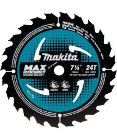 Makita 7‑1/4 in. 24T Carbide‑Tipped Max Efficiency Framing Circular Saw Blade