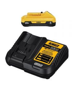 DEWALT 20V MAX* 4.0 Ah Battery & Charger Compact Starter Kit
