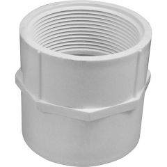 2 in. Straight Schedule 40 PVC Adapter, S x F