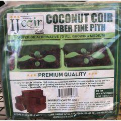 10 lb. Compressed Coconut Coir Fiber Fine Pith Block