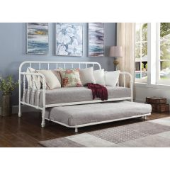 Twin Size Daybed with Trundle (Frames Only), White