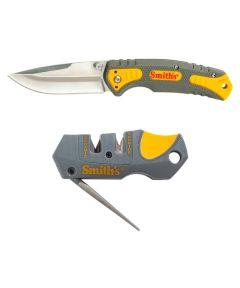 Smith's Pack Pal Folding Pocket Knife & Sharpener Combo