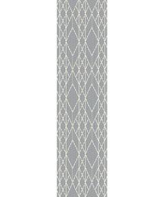 KAS 2 ft. 7 in. x 7 ft. 9 in. Terrace Grey Runner Rug