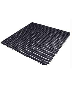 Flexgard 36 in. x 36 in. Rubber Nonslip Anti Fatigue Mat, Black