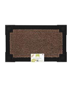 GrassWorx 30 in. x 18 in. AstroTurf Scraper Nonslip Door Mat, Brown/Black