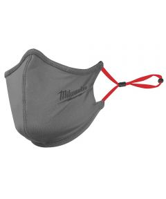 Milwaukee 2-Layer Face Mask, One-Size-Fits-Most, Gray, 1 Pack
