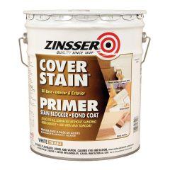 5 Gallon Zinsser Interior / Exterior Cover-Stain Oil-Base White Primer