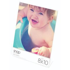 8 x 10 in. Vertical Clear Standing L-Shaped Picture Frame