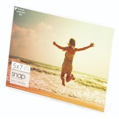 5 x 7 in. Horizontal Clear Standing L-Shaped Picture Frame