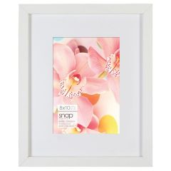 8 x 10 in. White Matted (5 x 7) Standing Picture Frame