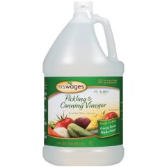 Mrs. Wages 1 Gallon 5% Acidity Pickling & Canning Distilled White Vinegar