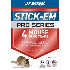 JT Eaton Stick-Em Pro Series Mouse Glue Trap, 4 Pack