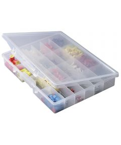Stow N Go Portable Organizer Storage Box, 24 Fixed Compartments