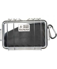 Pelican 1040 Watertight Micro Case with Carabiner, Clear/Black