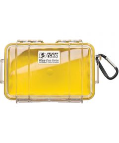 Pelican 1040 Watertight Micro Case with Carabiner, Clear/Yellow