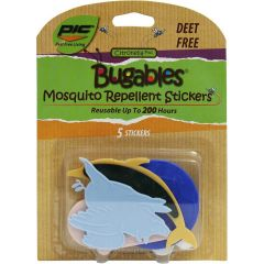Pic Bugables Mosquito Repellent Stickers for Kids, 5 Pack