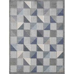 KAS 5 ft. 3 in. x 7 ft. Calla Blue Scope Area Rug