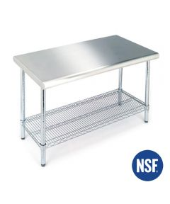 Stainless Steel Top Worktable 24 in.x49.5x35.5