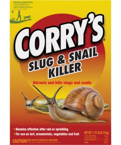 Corry's Slug and Snail Killer, 1.75 lb Box, Light Brown, Pellet