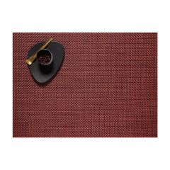 Chilewich Basketweave Table Placemat, Pomegranate