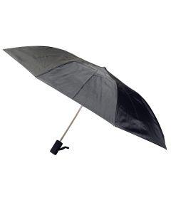 42 in. Black Men's Auto Fold Umbrella