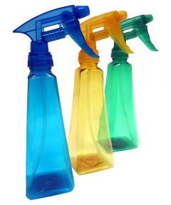 12 oz. Square Spray Bottle Assorted Colors