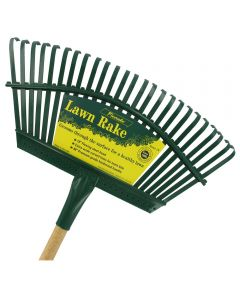 48 in. Handle 19 in. Steel Head Lawn Rake