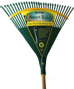 48 in. Handle 24 in. Actionpoly Head Ergonomic Leaf Rake