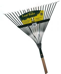 48 in. Handle 22 in. Medium Spring Action Metal Head Leaf Rake