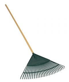 26-Tine Leaf Rake With 24 in. Red Poly Head
