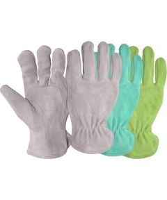 Ladies Assorted Split Leather Suede Gloves
