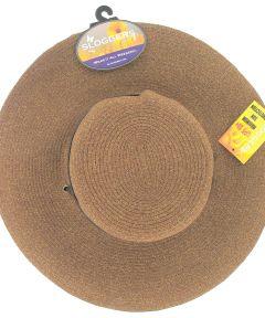 Size 1 Dark Brown Wide Brim Braided Hat