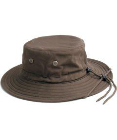 Large To XL Dark Brown Men's Cotton Hat